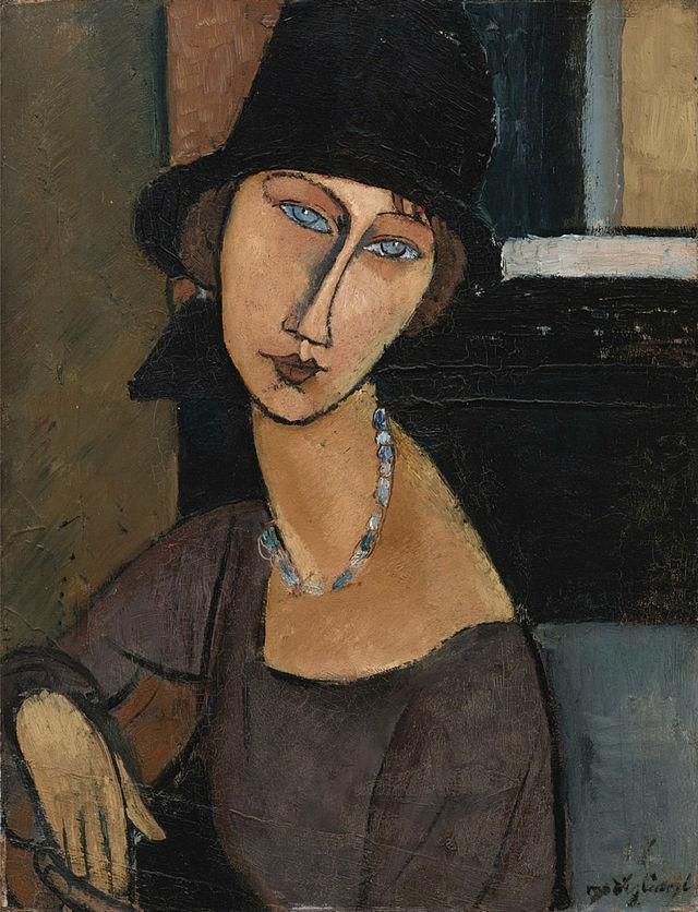Jeanne Hébuterne au chapeau by Amedeo Modigliani